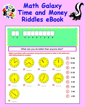 Math Galaxy Time and Money Riddles eBook