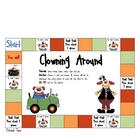Math Game Board - Elapsed Time - Clowning Around