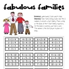 Math Game Board - Fabulous Fact Families
