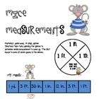 Math Game Board - Mice Measurements