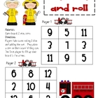 Math Game Board - Stop, Drop and Roll
