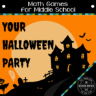 Math Games for Middle School 2 - Your Halloween Party (Adding)