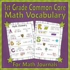 Math Glossary for Students (1st Grade Common Core)