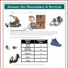 Math Graphing Activity with Shoes (variables, values) Common Core