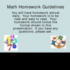 Math Homework & Note-Taking Guidelines (Combo)