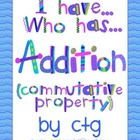 Math - I Have...Who Has...Addition (commutative property)