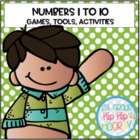 Math In Focus...Numbers 1 to 10...Focus Wall, Games, and Tools!
