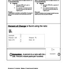 Math Interactive Notebook Foldable Percent of Change