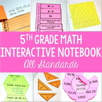 Math Interactive Student Notebook {5th Grade Common Core: All Standards}