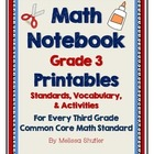 Math Interactive Notebook Printables -Grade 3