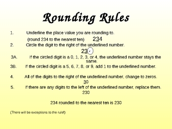 Math Introduction to Rounding Numbers Power Point Lesson