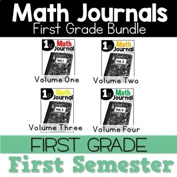 Math Journal Bundle September Through December Interactive Printables