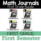 Math Journal Bundle September Through December Interactive