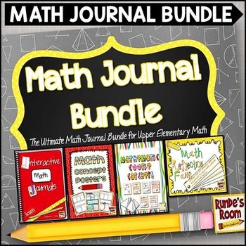Math Journal Bundle - The Ultimate Math Journal Bundle for Upper Elementary Math