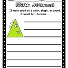 Math Journal - Is Math a shape, sound or colour?