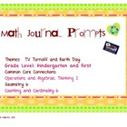 Math Journal K-1: TV Turnoff and Earth Day Theme {Freebie}