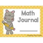 Math Journal Labels Hippos