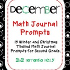 Math Journal Prompts ... December