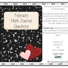 Math Journal Prompts-February