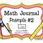 Math Journal Prompts II
