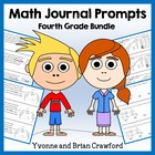 Math Journal Prompts for 4th Grade Bundle - Mathbooking