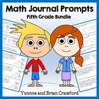 Math Journal Prompts for 5th Grade Bundle - Mathbooking