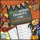 Math Journal Prompts for Kindergarten--Fall Version