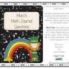 Math Journal Prompts for March