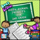 Math Journal Prompts for Second Grade: Back to School (Com