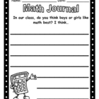 Math Journal - What Gender Likes Math Better