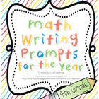 Math Journal Writing Prompts for the Year! - Common Core A