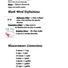 Math Key Terms - Booklets