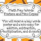 Math Key Words Poster Set- Sports Theme