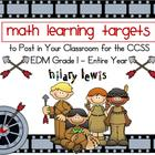 Math Learning Target Posters Bundle-EDM Grade 1-Entire Year