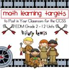 Math Learning Target Posters Bundle-EDM Grade 2-Entire Year