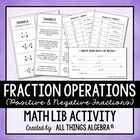 Fraction Operations {Positive and Negative Fractions} - Ma