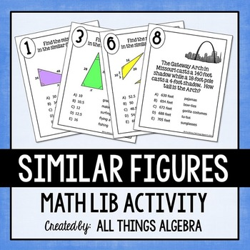 Similar Figures - Math Lib Activity!
