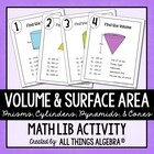 Volume and Surface Area - Math Lib Activity!