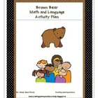 Math & Literacy- Brown Bear Style