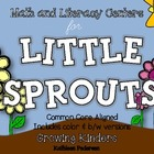 Math &amp; Literacy Centers for Little Sprouts {Plants - Commo