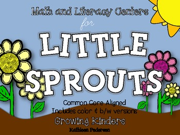 Math & Literacy Centers for Little Sprouts {Plants - Commo