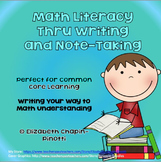 Math Literacy Through Writing and Note-taking: Common Core
