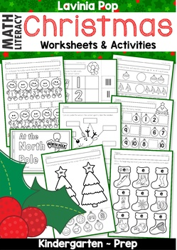 Math & Literacy Worksheets & Activities - Christmas