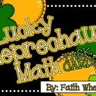 Math - Lucky Leprechaun Math