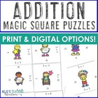 Math Magic Square -- Addition 0-12