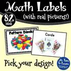 Math Manipulative Picture Labels