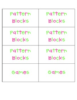 Math Manipulative and Game Storage Labels {FREE!}