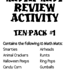 Math Mat Review Activity:  ASSORTED TEN PACK #1