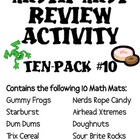 Math Mat Review Activity:  ASSORTED TEN PACK #10