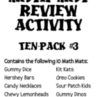 Math Mat Review Activity:  ASSORTED TEN PACK #3